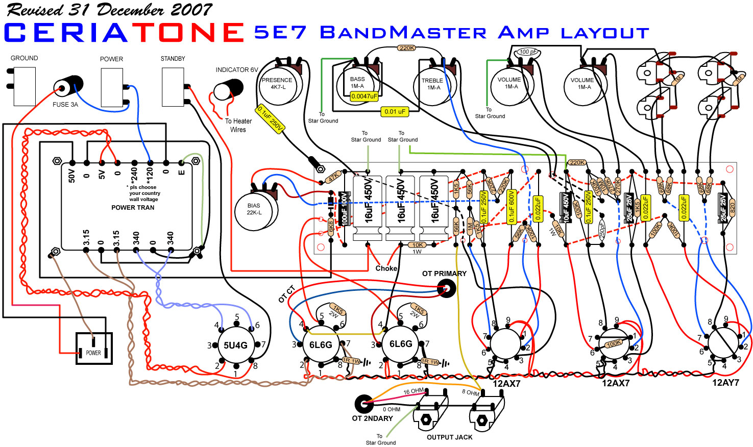 Power Cord Schematic Auto Electrical Wiring Diagram Rg Krogerus Bluesmaster U2013 5e7 Bandmaster Build U00bb Suregork Diy